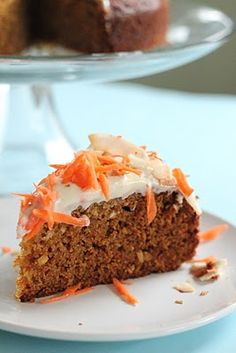Carrot and Coconut Cake with Honey Cream Cheese Frosting   - Healthy