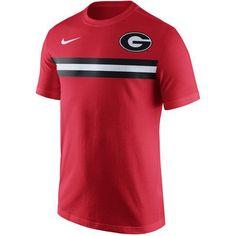 NCAA Georgia Bulldogs Nike Men's Campus Red Short Sleeve T-shirt