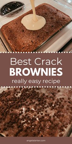 Best Crack Brownies - Easy Recipe to make at home. Angela Lanter Easy 4 ingredient Nutella brownies from scratch, that are gluten free! The best homemade brownie recipe that will make you never eat brownie box mix again. Brownie Desserts, Köstliche Desserts, Holiday Desserts, Delicious Desserts, Dessert Recipes, Yummy Food, Southern Desserts, Sweet Desserts, Dessert Bars