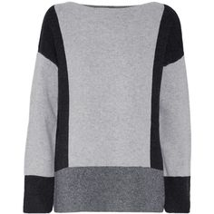 Vince Color block wool and cashmere blend sweater ($345) ❤ liked on Polyvore featuring tops and sweaters