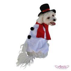 Snowman Dog Costume available at http://doggyinwonderland.com/item_1198/Snowman-Dog-Costume.htm