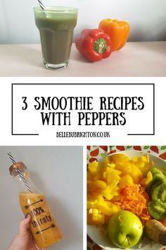 Did you know that Peppers are higher in vitamin C than oranges, kiwis, and strawberries? They're also packed with vitamins E, B and A! But would you ever think to put them in a smoothie? No me neither.  One whole pepper can give up to 200% of your daily a