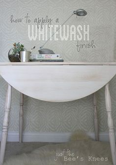 Easily transform an old table into a stunner with a Whitewash finish - Whitewashing has to be one of the easiest ways to paint furniture! It's quick and easy an…