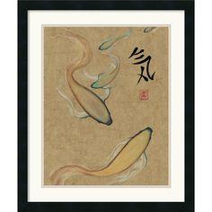 Barbara Psimas 'Energy I (Gold)' Framed Art Print - Overstock™ Shopping - Top Rated Prints
