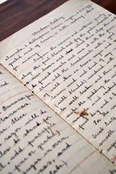 Beautiful handwritten cookbook (copperplate calligraphy)