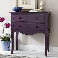 COLORWAYS Inspiration idea for using Annie Sloan Chalk Paint custom color Purple. Source: Plum Janikka Console from Home at Five®