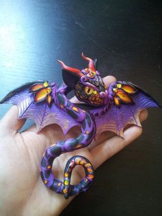 Love this Dragon!!!!   Red Purple Hair Pin Dragon by MakoslaCreations on Etsy, $75.00