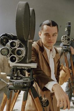 Leo DiCaprio as Howard Hughes in The Aviator.