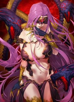 Sexy, Hot, Ecchi Images of Medusa from the Anime and Game Fate Grand Order and Fate Stay Night Fate/stay Night, Medusa Gorgon, Matou, Another Anime, Animes Wallpapers, Fate Zero, Anime Fantasy, Monster Girl, Fantasy Characters