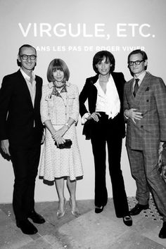 #BrunoFrisoni, #AnnaWintour, #InesdelaFressange and Hamish Bowles opens #Virguleetc #RogerVivier retrospective opening ceremony at #PalaisdeTokyo, #Paris.