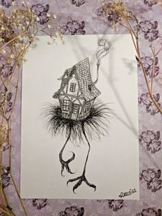 Your place to buy and sell all things handmade Shopping Pictures, Russian Tattoo, Season Of The Witch, Witch Art, Fantasy Illustration, Drawing Reference, My Drawings, Fairy Tales, Folktale
