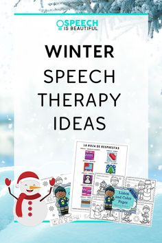 Looking for speech and language activities this winter? Check out my winter speech and language resources including book companions, articulation activities, expressive and receptive language, and more, in both English and Spanish. | Speech is Beautiful