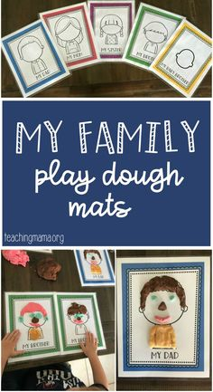 Great for talking about family me… Family Play Dough Mats – free play dough mats. Great for talking about family members and a fun way to talk about the parts of… Continue Reading → Preschool Family Theme, Family Crafts, Family Activities, Toddler Activities, All About Me Preschool Theme, Family Art Projects, Toddler Themes, Preschool Lessons, Kindergarten Activities