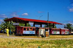 Abandonned train station in Nafplio, a seaport town in the Peloponnese, Greece ✯ ωнιмѕу ѕαη∂у