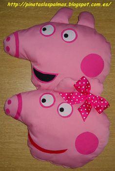 Piñatas Las Palmas: Cojines de Peppa Pig y George