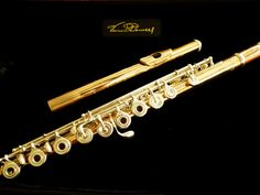 My lovely new flute. Powell Aurumite