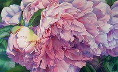 Barbara Fox / Afternoon Peony / original watercolor 17 x Peony Painting, Watercolor Paintings, Watercolors, Watercolor Fox, Watercolor Flowers, Art Floral, Art Fox, Paintings I Love, Flower Paintings