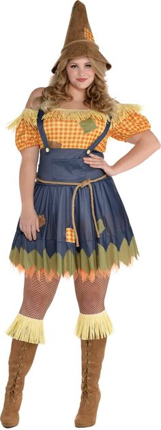 Adult Sultry Scarecrow Costume Plus Size - Party City