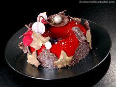 Couronne de Noël au chocolat, cœur fruits rouges - Meilleur du Chef
