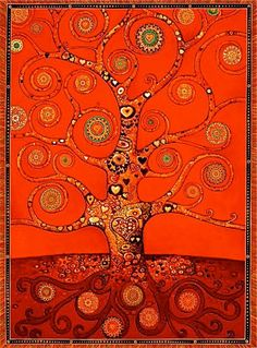 Red Chakra: root chakra meaning physical well-being, groundedness Would you use this color in your mandala? http://www.yogaandlife.com