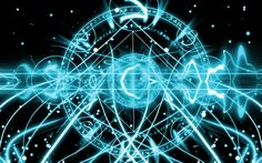 Blue magic circles