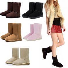 CALIENTE Unisex De Invierno Zapatos Calientes De La Nieve Medio Cargadores 5 Colores
