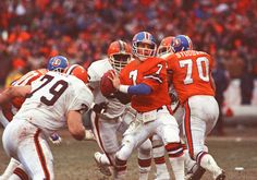 d1690da090b ... Denver Broncos quarterback John Elway marched his team 98 yards against  the Cleveland Browns in one of the greatest playoff drives in NFL history.
