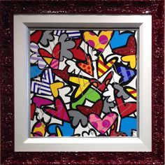 """So Much Love"" - Giclee Art Print 30x30"" by Romero Britto♥🌸♥"