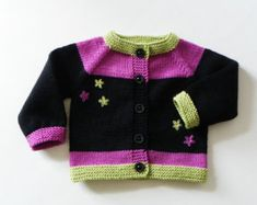 Knit baby cardigan baby boy outfit blue baby sweater by Tuttolv