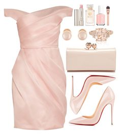 """""""Untitled #3655"""" by natalyasidunova ❤ liked on Polyvore featuring Lela Rose, Christian Louboutin, Ted Baker, Kenneth Jay Lane, Effy Jewelry, By Terry, Tory Burch and Essie"""