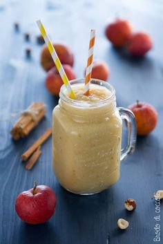 Yogurt Smoothies, Healthy Breakfast Smoothies, Frappe, Vegan Smoothie Recipes, Healthy Recipes, Healthy Food, B Food, Smoothie King, Food Decoration