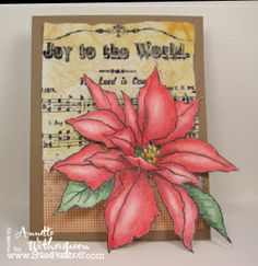 Joy to the World – CAS Christmas Card Challenge   Stampendous Impressions