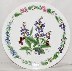 "'Sage' Herbs Royal Worcester 7.5"" Fine Bone China Plate Ltd. Edition No.4996 B"