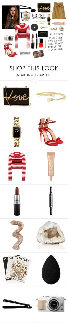 """Fresh perspective"" by oberlinchanel ❤ liked on Polyvore featuring Lanvin, Kenneth Jay Lane, Chanel, Salvatore Ferragamo, Louis Vuitton, Marc Jacobs, tarte, MAC Cosmetics, Bobbi Brown Cosmetics and Topshop"