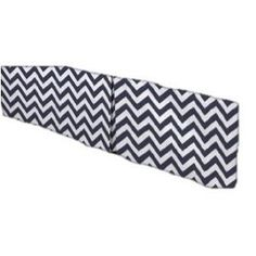 Navy Chevron Box Pleat Crib Skirt