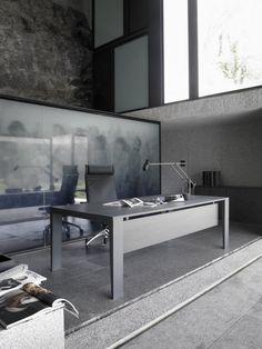 Mahia managment Design by Aitor Garcia de Vicuna Office Desk, Modern Design, Conference Room, Table, Furniture, Contemporary, Home Decor, Grey, Black