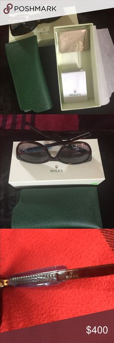 ROLEX SHADES WITH BOX Rolex shades with box and paper work made in Italy 100 % Authentic ROLEX Other