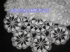 ulusoydantel' in mekikten oda takımı ve tepsi örtüsü,havlu dantelleri modelle - Dantel Boyama, Firkete, Mekik vb. Dantelleri