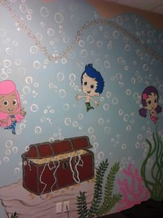 1000 images about decorating ideas on pinterest bubble guppies beach wall murals and - Bubble guppies bedroom decor ...