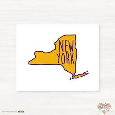 Albany New York Typography State Giclée Map Art by PaintedPost