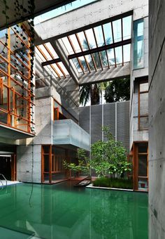 Swimming pool in home