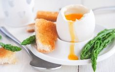 Yummy Eggs and Soldiers with Asparagus