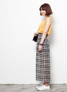 the long skirt