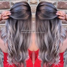 Gun Metal Grey by @fullmetaljaxon. She used #KenraColor 1N, 7SM, 8VM, 8SM and 10SM to create this color. #MetallicObsession #KenraProfessional #Kreate #silverhair