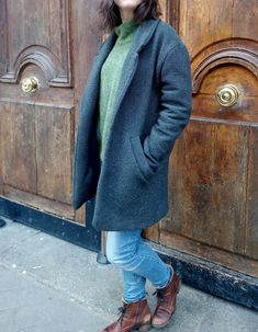 Manteau Gérard de République du Chiffon (RDC) ! Un régal à coudre ce patron, dans un super tissu en laine. Plus de photos et de commentaires sur le blog!