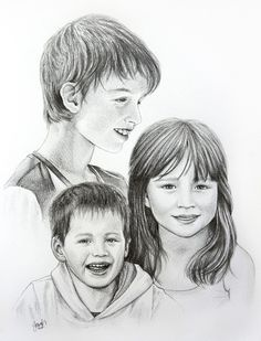 The Grateful Project - grateful for help from my friends (kids pencil portrait commission)