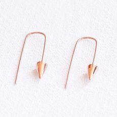 Rose gold and sterling silver Earrings from Scarlett Vegan Bags