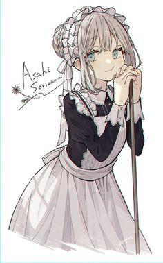 Cute Anime Character, Cute Characters, Anime Characters, Character Art, Anime Girl Cute, Kawaii Anime Girl, Anime Art Girl, Anime Girl Drawings, Manga Drawing