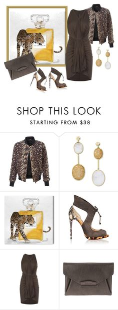 """""""Exotic love"""" by bv-b ❤ liked on Polyvore featuring LE3NO, Anastazio, Oliver Gal Artist Co., Christian Louboutin, Rick Owens Lilies and Givenchy"""