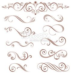 Ornate Motifs Collection stock vector art 13685408 - iStock